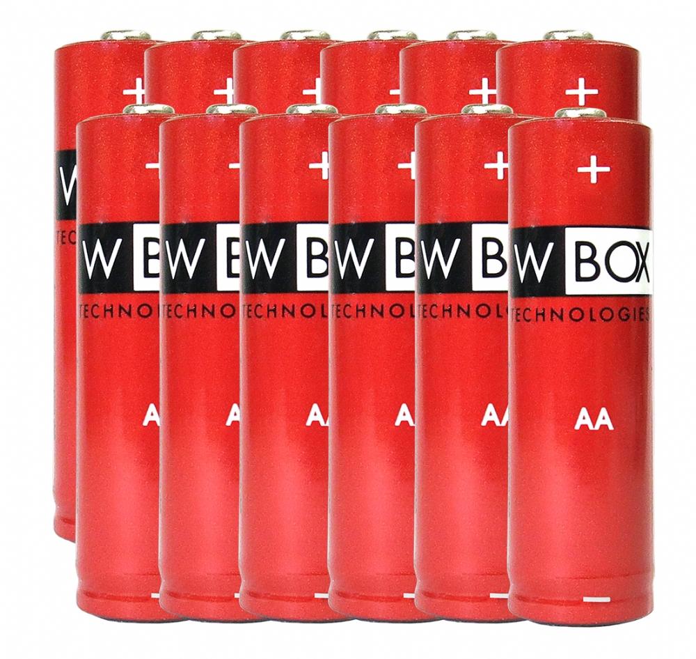 W Box Multifunktion Batteri - AA - Alkaline - 12 Pack