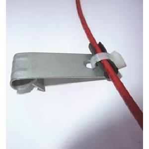 P Clips Rustfri stål med iso, 100 stk pk