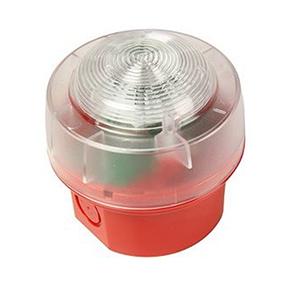KAC Sikkerheds stroboskoplys - Wired - 29 V DC - Visuelt, Hørbar - Væg Monterbar - Red, Hvid, Klar