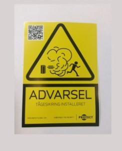 Lille advarselsskilt - Dansk