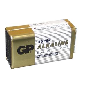 Batteri Alkaline 9V  GP1604A