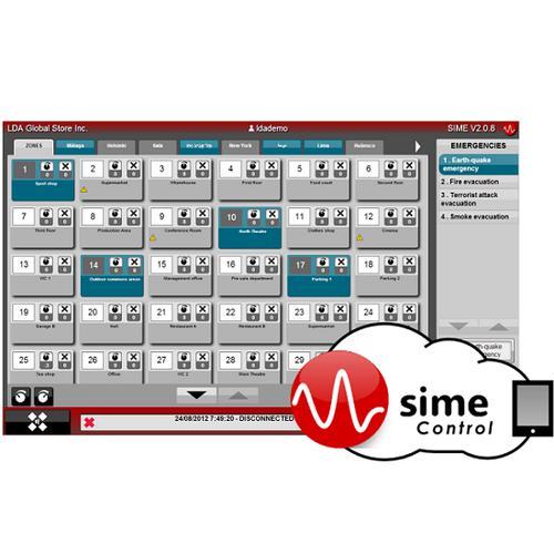 SIME control platform integr