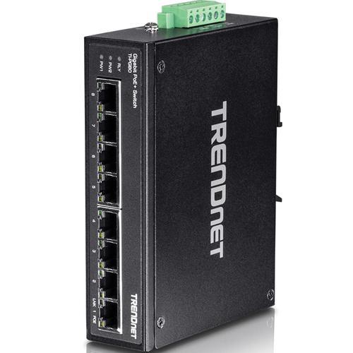 TI-PG80 8 ports PoE+ Din-Rail