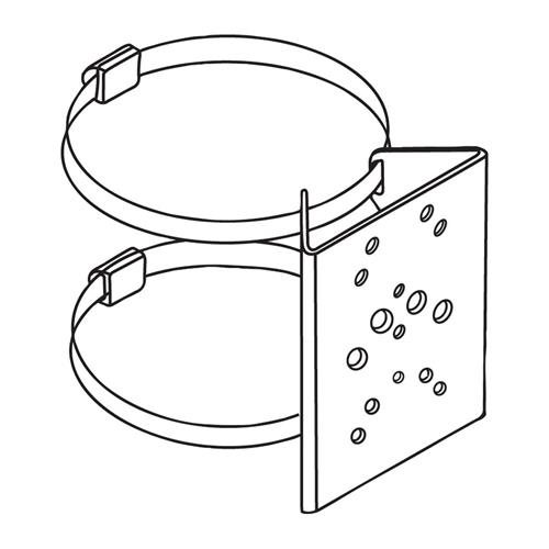 PBC-1 enkelt rørmastbeslag