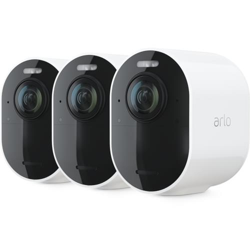 Arlo Ultra 4K Wireless White Spotlight 3 Camera Kit