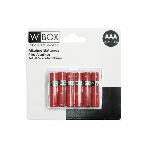 Batterier AAA Alkaline 12 pack