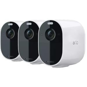 Arlo Essential Full HD Wireless White Spotlight Camera Pack of 3