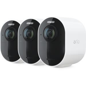 Arlo Ultra 4K Wireless White Spotlight 3 Camera Kit